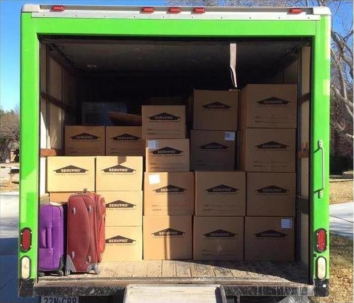 Box truck with contents