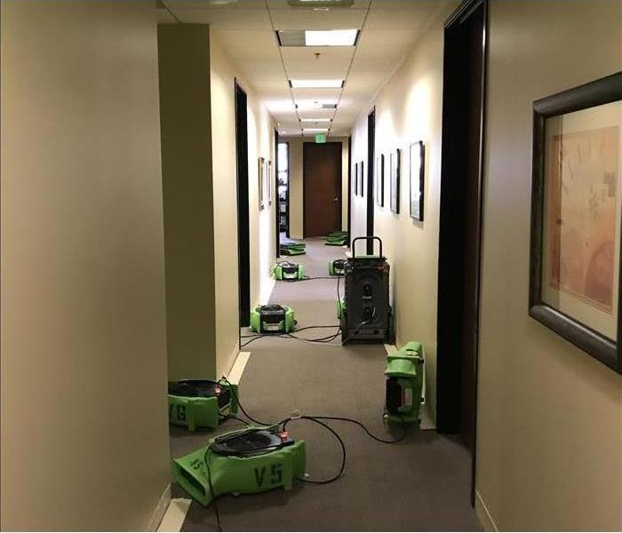 Equipment placed in a hallway