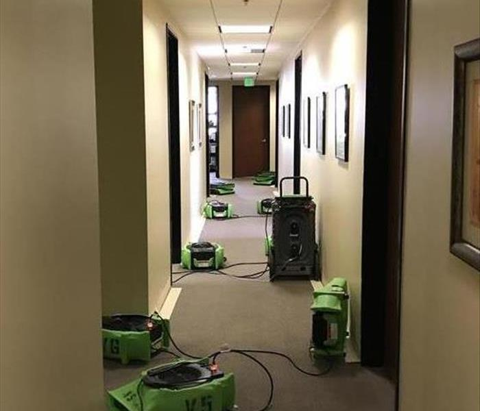 Drying equipment in commercial hallway